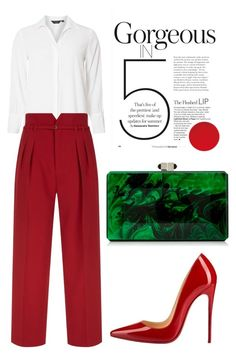 """""""Gorgeos"""" by meliaa888 on Polyvore featuring мода, Dorothy Perkins, RED Valentino, Christian Louboutin, Judith Leiber, stylish и evening"""