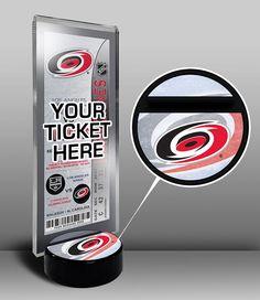 Carolina Hurricanes Hockey Puck Ticket Display Stand - Team Logo or My First Game