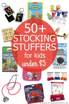 Fun Stocking Stuffers Kids Will LOVE! - Happily Ever Mom FUN stocking stuffers for kids that cost under five dollars each. If you need stocking stuffers for kids that won't break the bank, this list is PERFECT! Stocking Fillers For Kids, Stocking Stuffers For Adults, Stocking Stuffers For Teens, Christmas Stocking Stuffers, Tic Tac Toe, Kids Stockings, Christmas Gifts For Kids, Xmas, Family Christmas