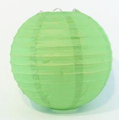 Green Paper Lantern Small 20cm Diameter | My Wedding Store