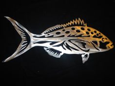 Items similar to Sport Fishing Artwork Yellowtail Snapper Aluminum Marine Outdoor Decor on Etsy Bird Crafts, Metal Crafts, Metal Artwork, Metal Wall Art, Sheet Metal Art, Plasma Cutter Art, Wal Art, Scroll Saw Patterns Free, Metal Fish