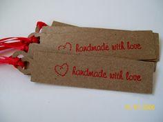 "Kraft ""Handmade with love"" tags"
