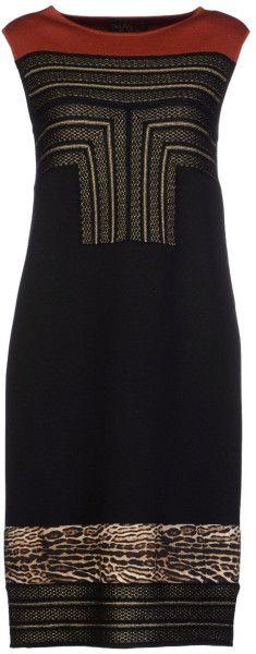 Giambattista Valli Kneelength Dress in Black - Lyst