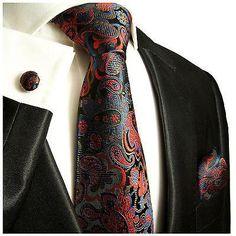 Silk Necktie Set by Paul Malone . Paisley