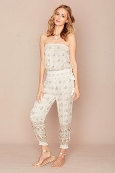 Calypso Bridal Collection #Mariee - Jovet Silk Metallic Jumpsuit