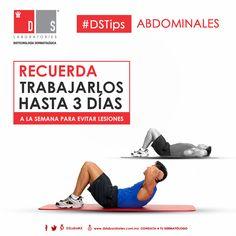#DSTip: Al hacer una rutina para trabajar con tus abdominales, recuerda trabajarlos hasta tres días a la semana para evitar futuras lesiones. Gym Equipment, Fitness, Crunches, Men, Workout Equipment