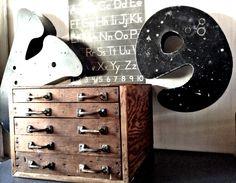Vintage Letter Press  Printer's Typesetter  Wood Cabinet by vagabondsandcaravans on Etsy