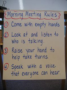 The use of classroom/community meetings to build rapport and relationships. Taking the time for a daily morning meeting is a great way to start the day off right! 2nd Grade Classroom, Classroom Rules, Classroom Behavior, Kindergarten Classroom, School Classroom, Classroom Activities, Classroom Organization, Classroom Management, Classroom Ideas
