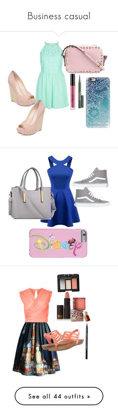Business casual by kyliesue22 on Polyvore featuring polyvore, fashion, style, Jessica Simpson, Valentino, Stila, MAC Cosmetics, Casetify, clothing, Chicnova Fashion, Vans, Chicwish, Madden Girl, Lipstick Queen, Benefit, NARS Cosmetics, Maybelline, River Island, J Brand, Ted Baker, Converse, Warehouse, Moschino, Levi's, Glamorous, Skechers, Christian Dior, Clinique, esum, Marc Jacobs, HoneyBee Gardens, Rebecca Minkoff, Sugar Paper, Vera Bradley, Rebecca Taylor, Dr. Martens, Jimmy Choo…