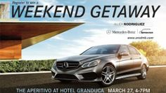 Promo Alert: What pairs best with Italian fare? A brand New Mercedes-Benz, of course. Spend an evening at Hotel Granduca with Alex Rodriguez Mercedes-Benz on March 27.