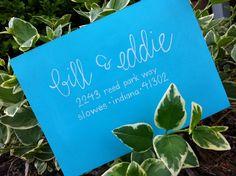 Calligraphy Wedding Invitations or Envelopes. $1.50, via Etsy.