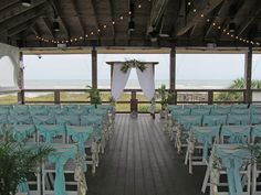 Want a beach wedding but don't want sandy toes? Consider Romantic Honeymoon Island's South Beach Pavilion for your ceremony!