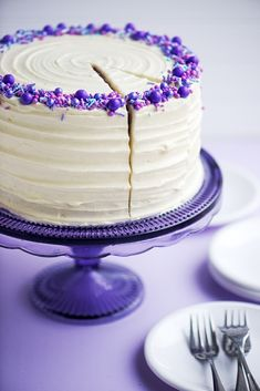 Purple Velvet Cake with Cream Cheese Frosting