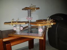 Cup cake stand made out of photo frames