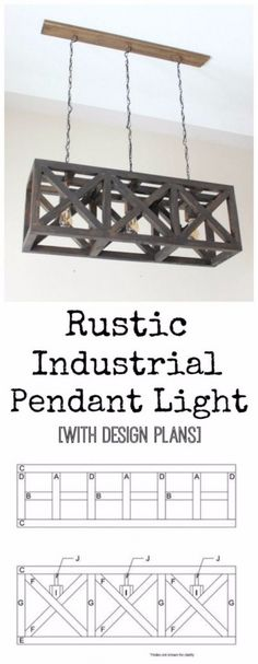 DIY Renters Decor Ideas - Rustic Industrial Pendant Light - Cool DIY Projects for Those Renting Aparments, Condos or Dorm Rooms - Easy Temporary Wall Art, Contact Paper, Washi Tape and Shelves to Make at Home http://diyjoy.com/diy-decor-ideas-for-renters
