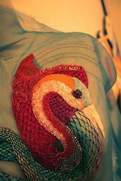 Beata Kania, embroidery work in progress 2009