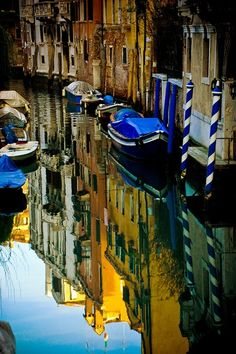 My Pretty Universe - bluepueblo: Canal Reflection, Venice, Italy photo via agoodthing - Oh The Places You'll Go, Places To Travel, Places To Visit, Travel Destinations, Beautiful World, Beautiful Places, Beautiful Pictures, Pictures Of Venice, Bologna