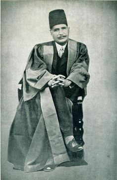 Allama Muhammad Iqbal - the ideological father and the National Poet of Pakistan, he is credited with socially enriching the Muslims of the world with his poetry in both Urdu and Persian.
