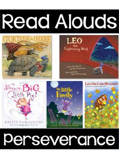 Perseverance readalouds and freebie!  Love this!