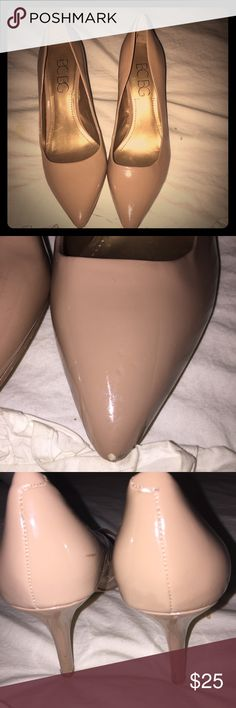 BCBG nude stillettos Slightly worn. A few scuffs but in good condition otherwise! BCBGeneration Shoes Heels