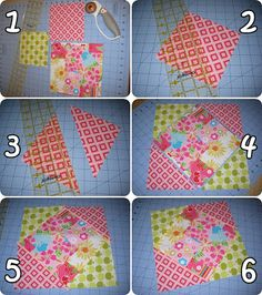 Diamond in a Square Block. How-to tutorial and calculations for sizes of squares if you want to adjust the size of the block.