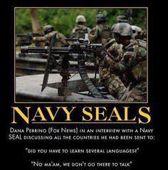 Navy Seals....silent and extremely deadly....