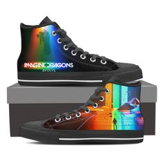 awesome Believer Imagine Dragons Custom Canvas Sneaker Shoes