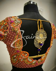 Heavy maggam embroidery