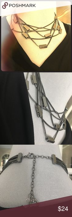 """💕-Vera Wang Multi Chain Necklace Another Beauty by Vera Wang.  Six separate strands attached on an adjustable chain with a lobster claw.   Roughly 16"""" long and can extend another 3"""".  💋 Vera Wang Jewelry Necklaces"""