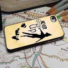 Peter Pan Never Grow Up for iPhone 4/4s, iPhone 5/5S/5C/6, Samsung S3/S4/S5 Unique Case