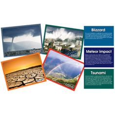 Illustrate your weather unit with photos and descriptions of natural disasters and weather events.