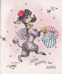 Vintage Poodle Birthday Card | by Museum Of Kitsch Ephemera