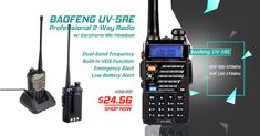Dual-band Frequency | Built-in VOX function | Emergency alert | Low battery alert | LED Flashlight $24.56 [34% OFF ⚡️ Flash Sale] #Chinavasion #coolgadgets #walkietalkie #baofeng #flashsale #deals Cool Electronic Gadgets, Electronics Gadgets, Cool Gadgets, Gadget Shop, Two Way Radio, Healthy Beauty, Led Flashlight, Walkie Talkie, Band
