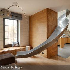 Sehr Witzige Idee! Ein Apartment Mit Rutsche Im Wohnzimmer! Mehr Bilder Bei  Uns Auf