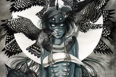 Chelsea Brown- fantastic artist whose subject matter centres around supernatural warrior women and other natural elements.