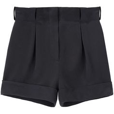 Cacharel Cuffed Silk Shorts. (€215) ❤ liked on Polyvore featuring shorts, bottoms, pants, short, women, high waisted shorts, high waisted short shorts, cuff shorts, high-waisted shorts and highwaist shorts