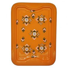 Floral Enamelware Tangerine Tray at http://www.ohhdeer.com