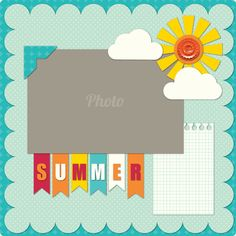 1 photo ..Summer Layout i like the flag title More