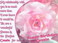 Awesome Flower Birthday Wishes For Cousin