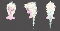 FROZEN, concept art visual development for Elsa: © Disney. FROZEN, Concept Art and Visual Development - © Disney. Anna Concept Art, Tangled Concept Art, Disney Concept Art, Game Concept Art, Disney Fan Art, Disney Style, Frozen And Tangled, Frozen Art, Elsa Frozen