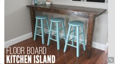With modern bar stools instead