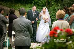 Wedding Ceremony on Mackinac Island at The Inn at Stonecliffe.  Image by McCoy Made.  #MackinacIslandWedding #PureMichigan #TheInnatStonecliffe #McCoyMadePhotography
