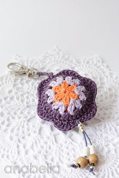 Adorable crochet keychain by Anabelia