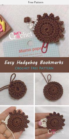 Easy Hedgehog Applique Free Crochet Pattern #freecrochetpatterns
