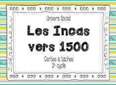 Les idées de Mme Roxane!: Les Incas Social Studies, Study, Classroom, Teaching, Questions, Education, Homeschooling, Canada, French