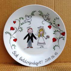 Személyre szabott nászajándék Personalized wedding gift #nászajándék #wedding #HandPainted