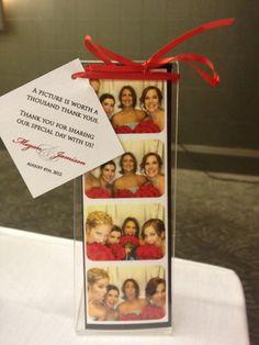 Use #photobooth photos as a wedding/party favour!