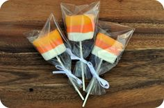Giant Candy Corn Marshmallow Dipped Pops