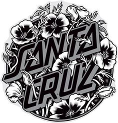 Looking for the best & top rated Santa Cruz Skateboard Sticker Cali Poppy 3 Skateboard Logo, Skateboard Design, Surf Stickers, Clear Stickers, Santa Cruz Stickers, Santa Cruz Logo, Lettering Design, Logo Design, Skate Art