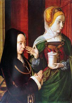 MAESTRO DI MOULINS (att. 1480-1503) Dipinto forse fra il 1490 e il 1495, questo pannello era con tutta probabilità lo sportello sinistro di un dittico o di un trittico. #art #history #oil #MaestrodiMouilins